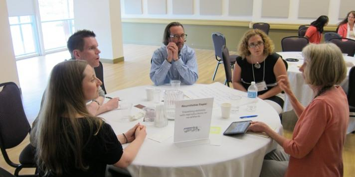 Roundtable discussion at the travelling exhibit forum in 2014