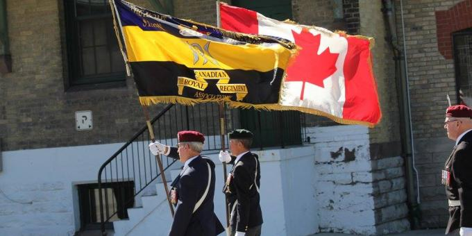 The Flag Party of the Home Station London & District Branch of The Royal Canadian Regiment Association
