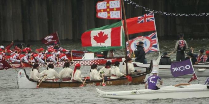 Canada One on the Thames River during the Queen's Diamond Jubilee Celebrations in London, England