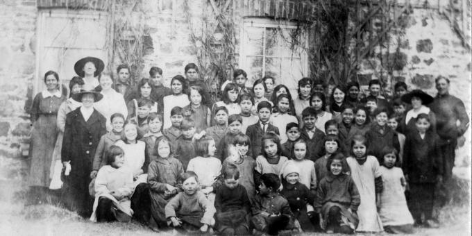 Students of the Shingwauk Indian Residential School