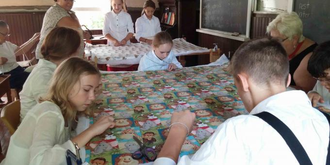 SS#3 Black Bay School House quilting