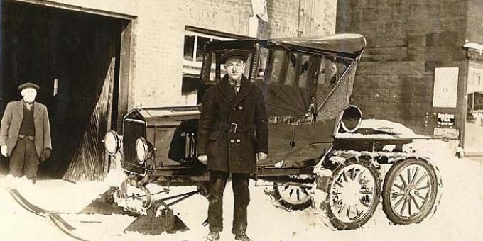 1923 Model Truck Snowmobile would come in handy this winter