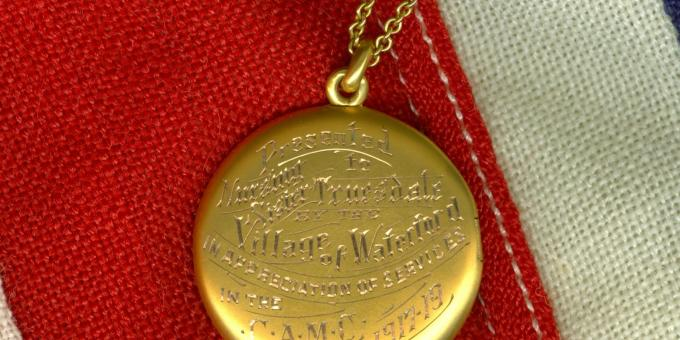 WWI Locket of Appreciation from the Village of Waterford