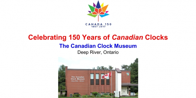 POSTER for Canada 150 project by The Canadian Clock Museum 2017