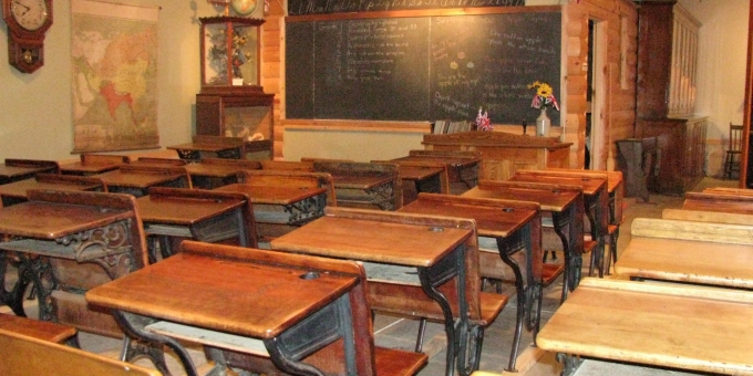 How many of you have gone to school? How many of you have gone to a one room schoolhouse?