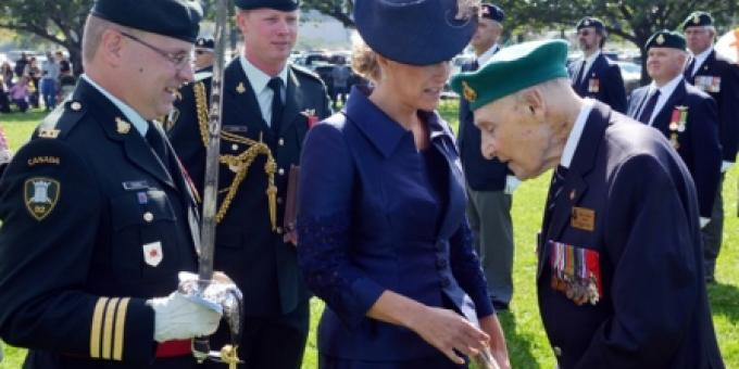 Countess of Wessex greets WW2 vet Bill Leslie