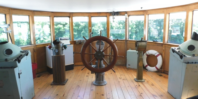 Inside the Wheelhouse of the Freighter Wm. P. Snider Jr., 1912