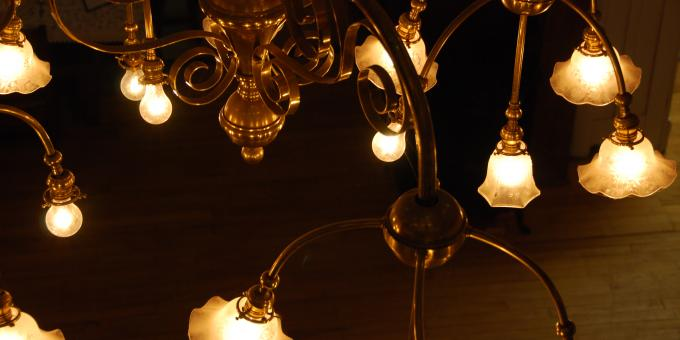 Chandelier from the original Alliston Town Hall