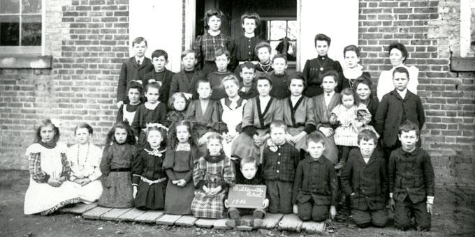 Students of S.S. No. 5 Markham 1906