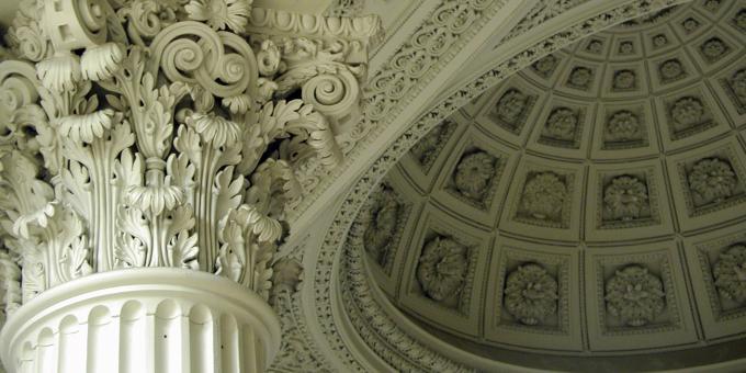 Le plafond de la Grande Bibliothèque
