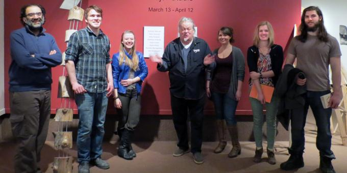 KIm Adams with Lakehead University 4th year Visual Arts Students