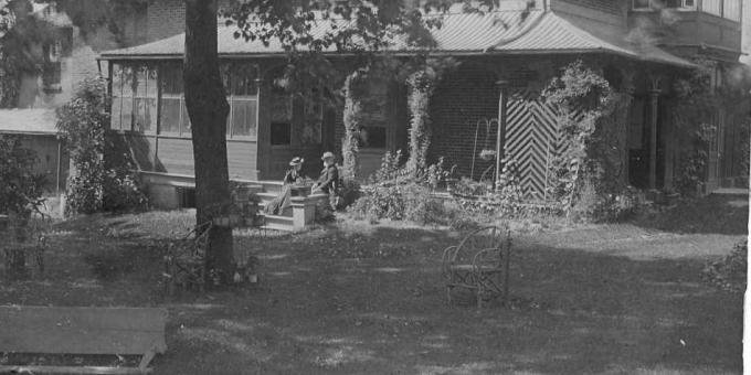 Members of the Hillary Family Seated On the South Veranda in 1893