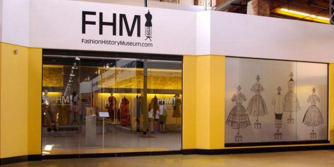 Front entrance of Fashion History Museum at our pilot site in Cambridge, July - December 2013