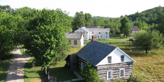 Aerial View of Lang Pioneer Village Museum