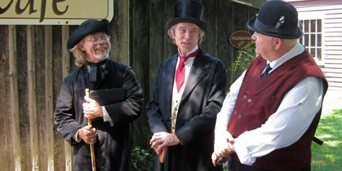 Sir John A. Macdonald and friends in the Village!