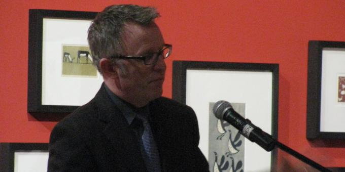 Mark O'Neill opens Inuit Exhibition in Timmins, February 2013
