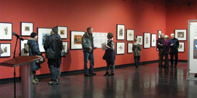 Opening for Inuit Exhibition, Timmins, February 2013