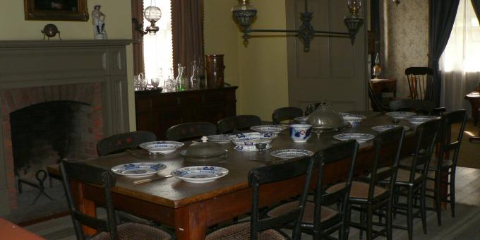 Dining Room at the Half Way House Inn circa 1849