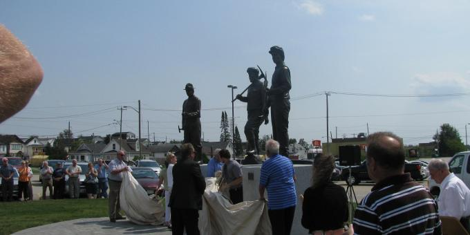 Prospectors and developers association - sculpture unveiling, August 2012