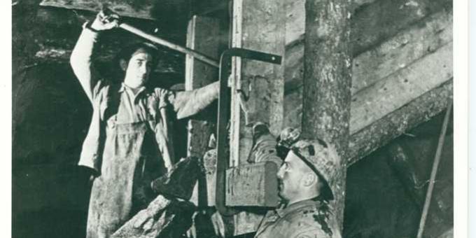 Miners working underground