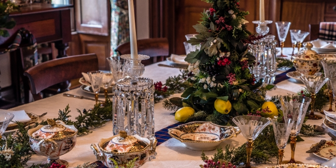 Edwardian Decorations, Scottish Tea, and Candlelight Tours Every Christmas
