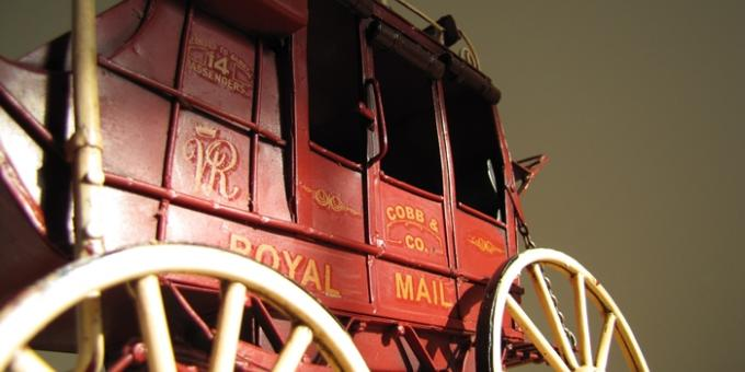 Model Stagecoach Delivers The Royal Mail