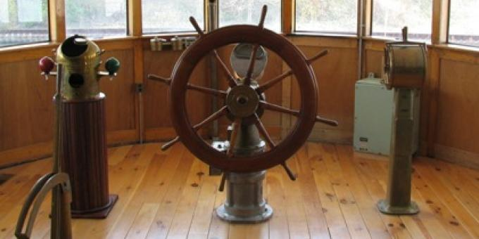 Wheelhouse of the Freighter Wm. P. Snider Jr. - 1912