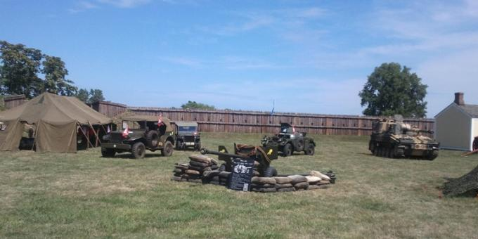restored vehicles participating at Ft George event