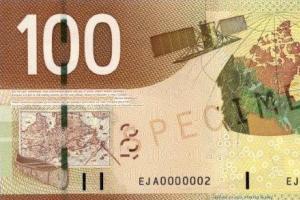 Carte sur le nouveau billet de $100 canadien