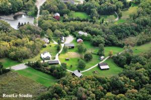 Backus Heritage Village Aerial View