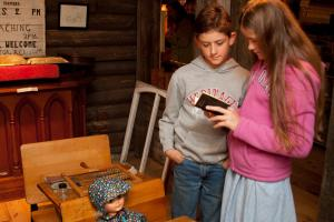 Inside the Schoolhouse at the Cloyne Pioneer Museum