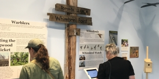 Display inside the Lakeshore Grounds Interpretive Centre's main exhibit space