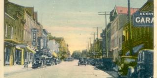 Times have changed but the main street of Ingersoll is still busy.