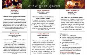 Historic Cooking Programs at Ireland House Museum