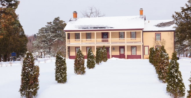 Battlefield House Museum exterior in Winter