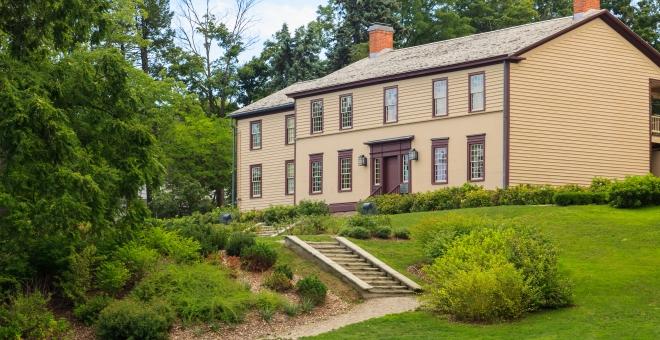Battlefield House Museum exterior in Summer