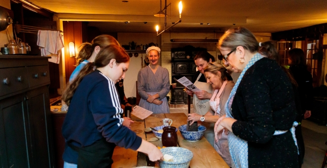Cooking in Dundurn Castle's historic kitchen