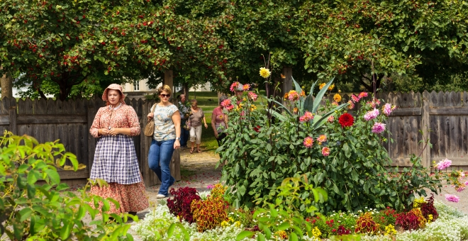 Touring Dundurn National Historic Site's historic Kitchen Garden