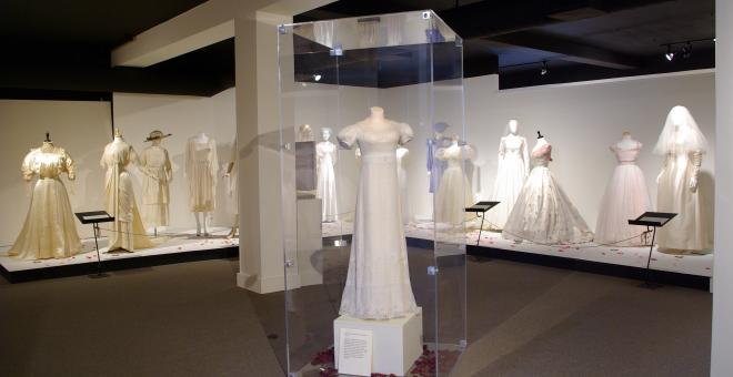 View of Tying the Knot: 200 Years of Wedding Attire