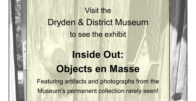 "Poster for the exhibit ""Inside Out: Objects on Masse"""