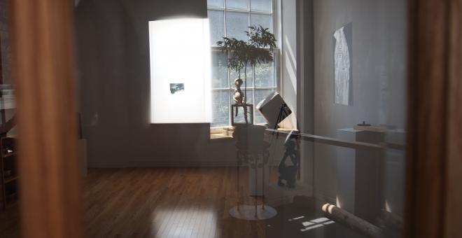 image of second floor gallery space