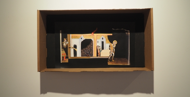 image of a three dimensional assemblage art work