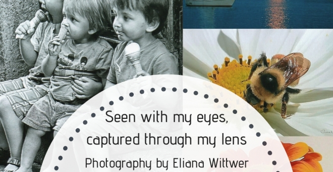 "Poster for the exhibit ""Seen with my eyes, captured through my lens"""