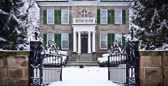 Whitehern Exterior in Winter