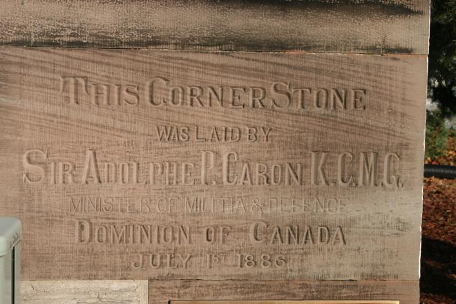 The Corner Stone at Wolseley Barracks